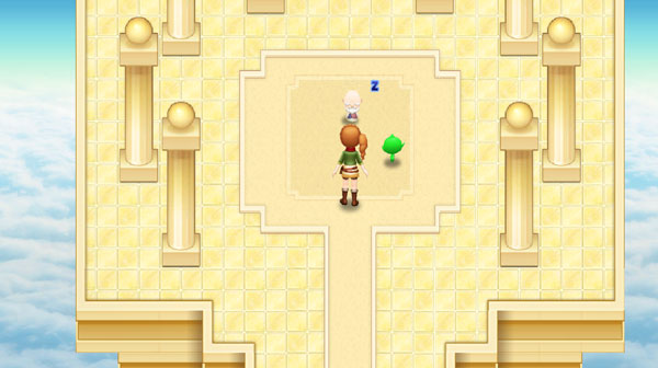 On the other side of the door is a golden platform in the sky. In the middle of the platform is a weird old guy taking a nap.  sc 1 st  Fogu & Harvest Moon: Light of Hope Walkthrough - The Fifth and Final ...